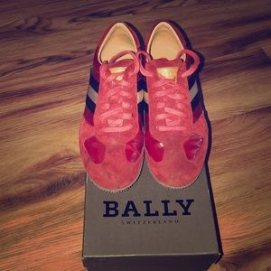 Bally Red Patent Sneaker